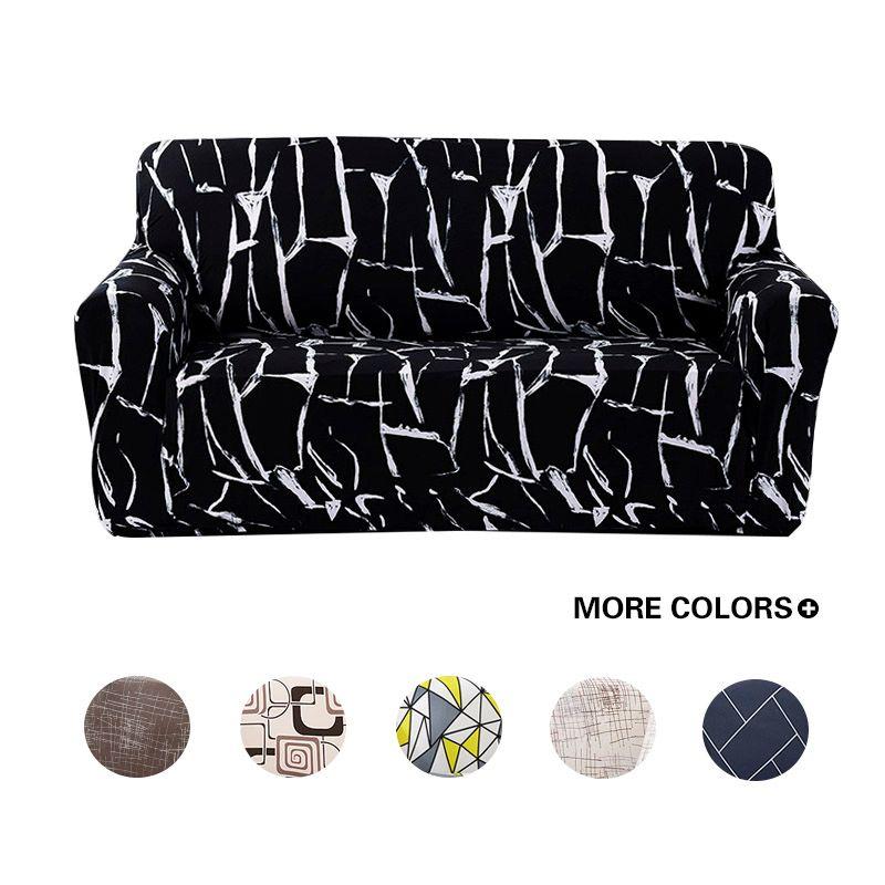Housses de canapé enveloppement serré tout compris élastique antidérapant Cubre canapé serviette coin canapé housse de canapé 1/2/3/4 places