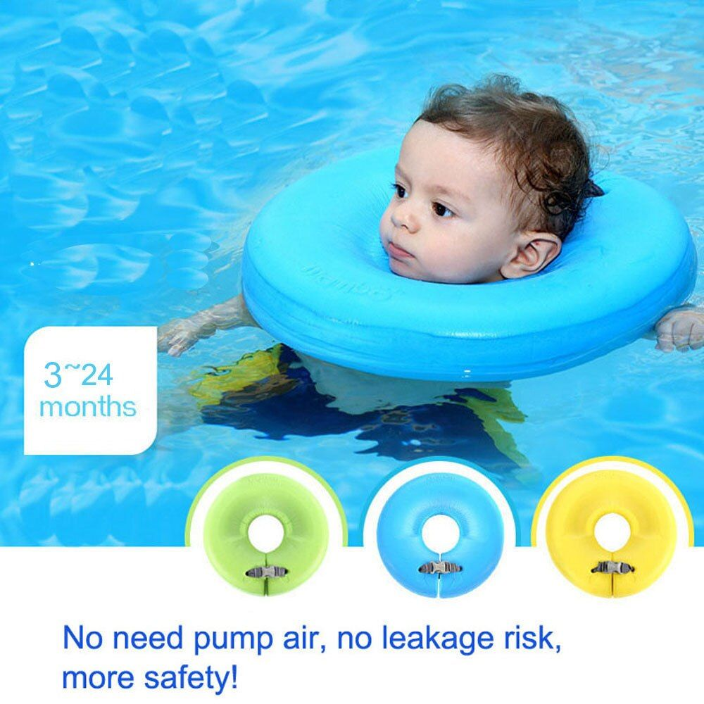 Swimtrainer No need pump air More Safety Swimming Ring Free <font><b>inflatable</b></font> collar Quality Baby Neck Swimming Ring 3-24months
