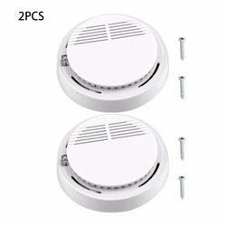 2Pcs 5Pcs 10Pcs Sensor Sensitive Photoelectric Home Independent alarm Smoke Detector Fire Alarm alone Sensor For Family Guard