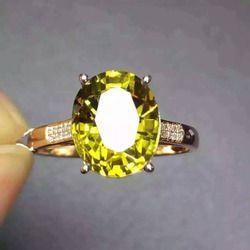 5.3ct alami Cincin turmalin Alami Cincin batu permata 18 k putih kuning emas trendy berlian Elegan bulat besar wanita party perhiasan