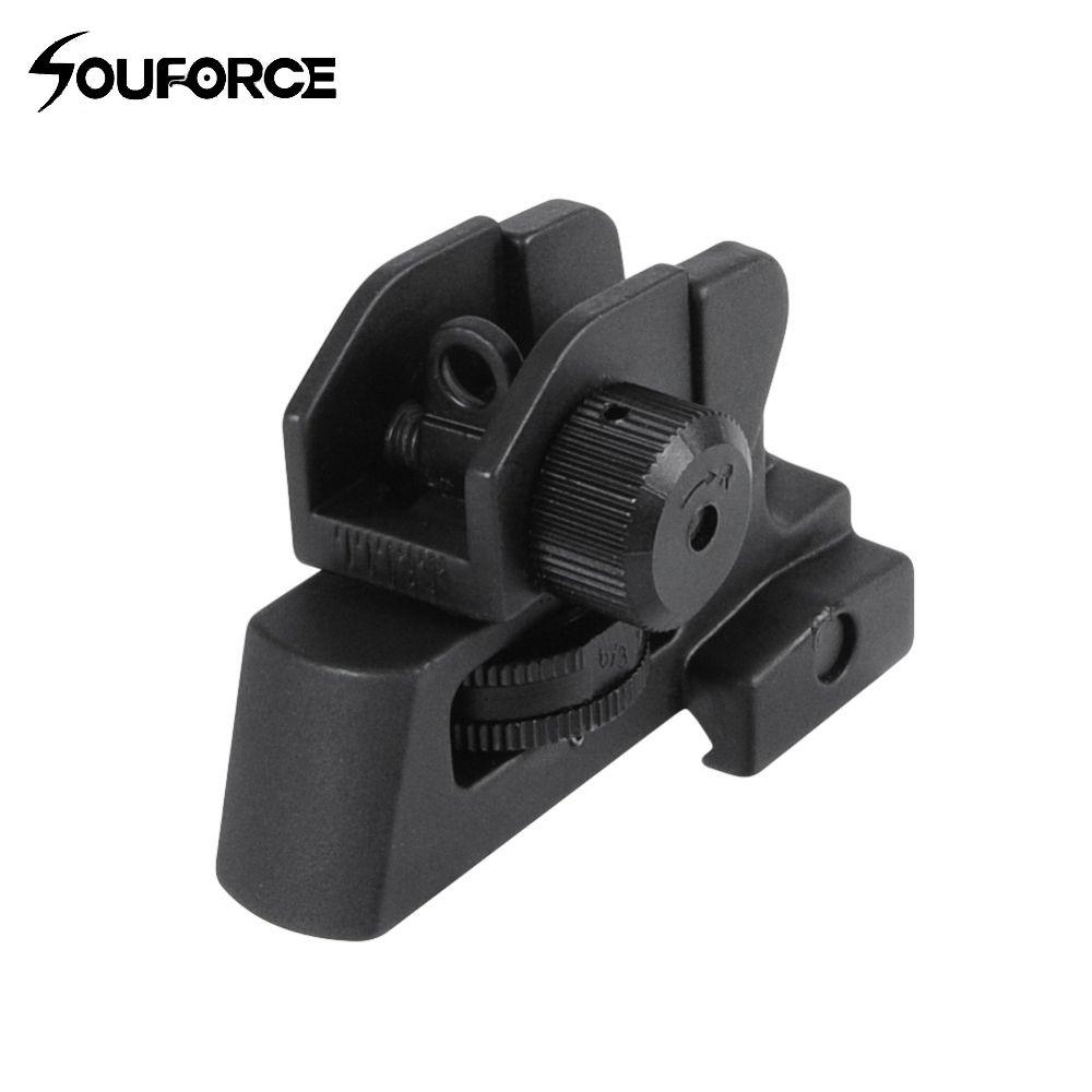 US détachable AR double ouvertures A2 vue arrière s'adapte 20mm monter tous les hauts plats de chasse pistolet fusil vue accessoires