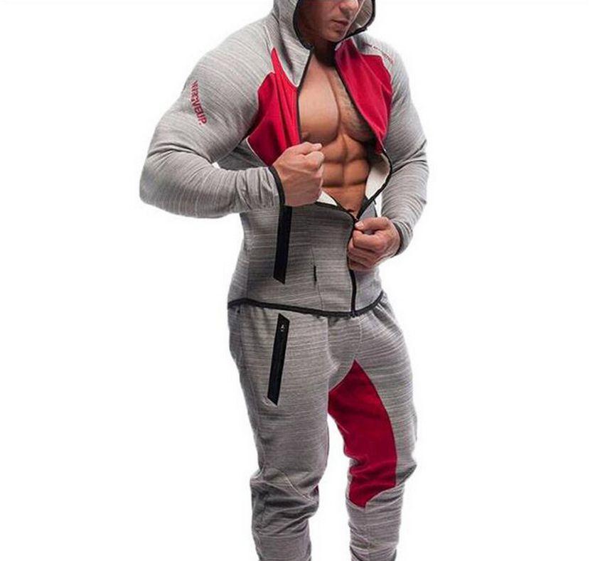 2016 Для мужчин повседневные толстовки Фитнес брендовая одежда Camisetas костюмы Для мужчин Бодибилдинг толстовка облегающая куртка с капюшоном