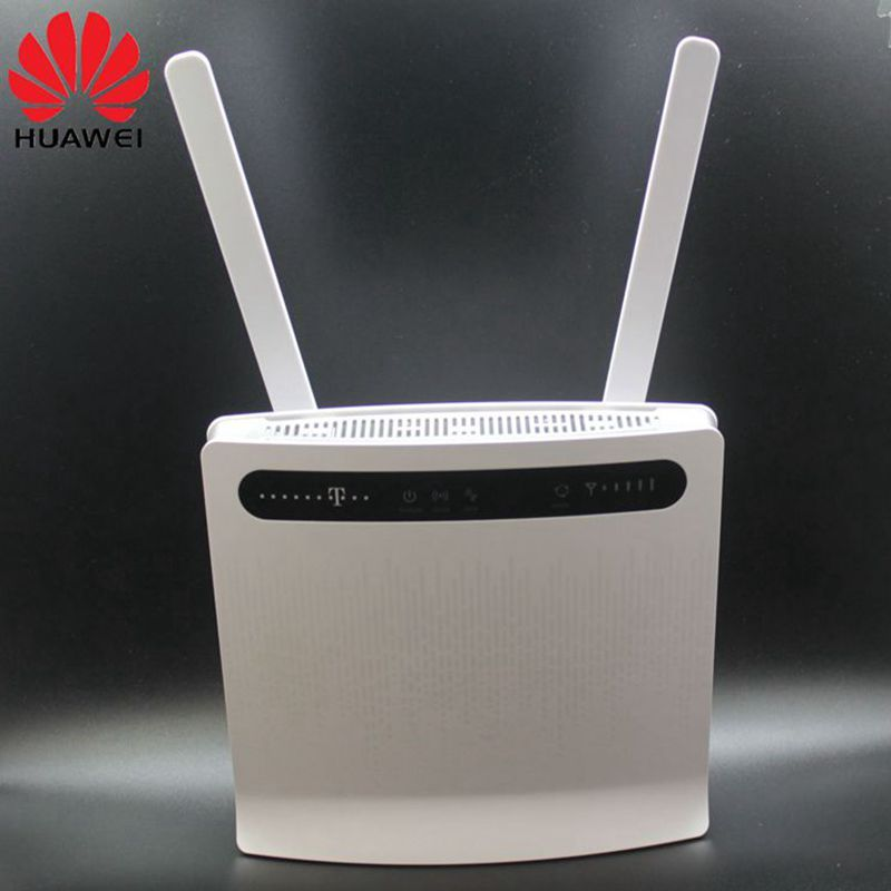 Unlocked Huawei B593 B593s-12 B593u-12 4G LTE Router(plus antenna) with Sim CardSlot 4G LTE WiFi Router with 4 Lan Port PKB310