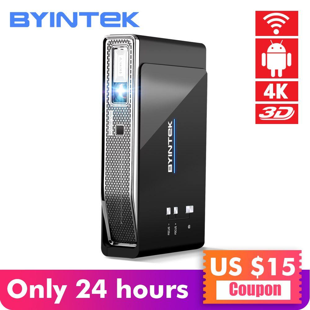 BYINTEK UFO R15 Smart Android WIFI Video Home Theater LED Tragbare USB Mini HD DLP 3D Projektor für Full HD 1080 P HDMI 4 K