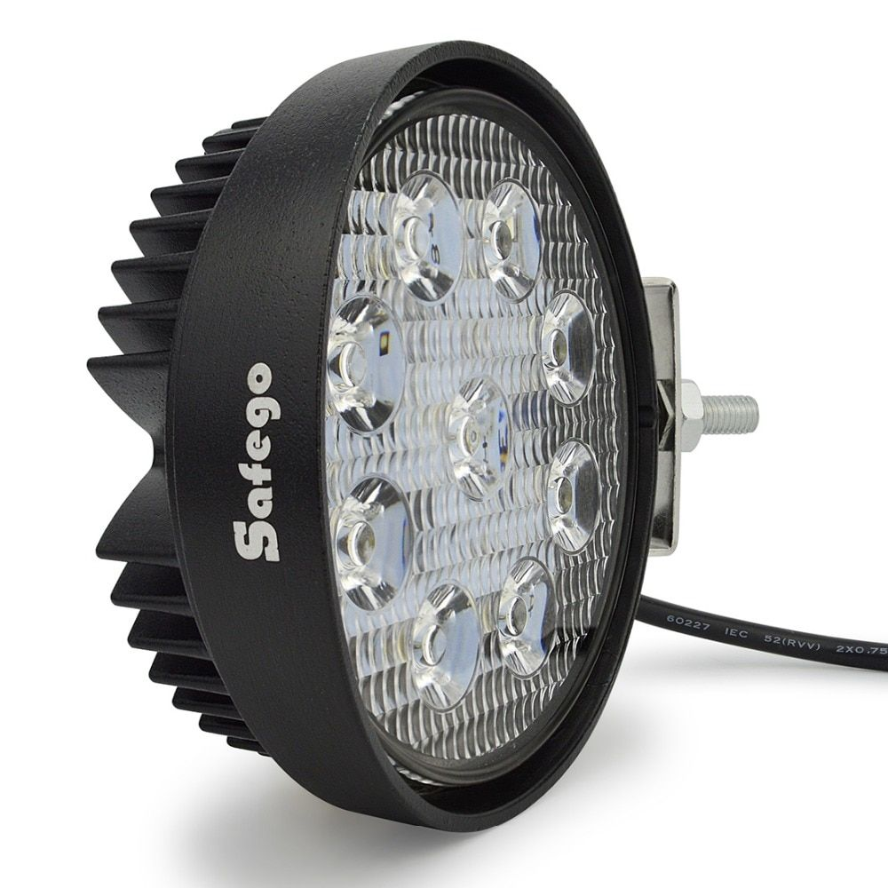 Safego 4 Inch 27W LED Work Light <font><b>Flood</b></font> Fog offroad ATV 4x4 Driving Lamp 12V for Motorcycle Tractor Truck Trailer SUV Boat 4WD