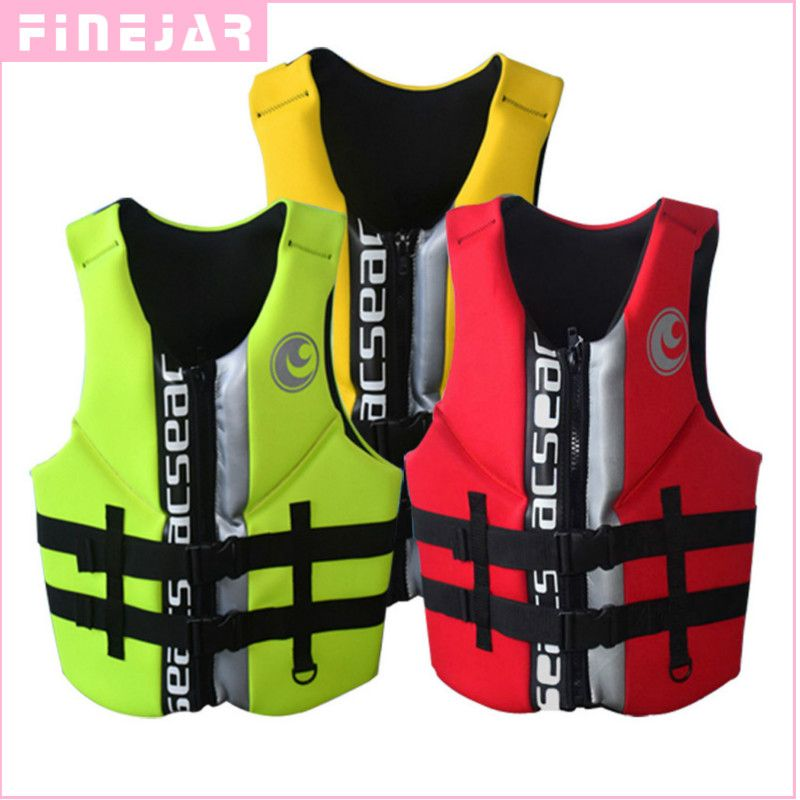 High quality professional neoprene Portable adult life jackets thick water floating surfing snorkeling fishing racing vest h2