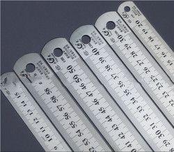 Règle en acier plus épais Fournitures De Dessin matériel outils règle double face pour le bureau et l'école kawaii