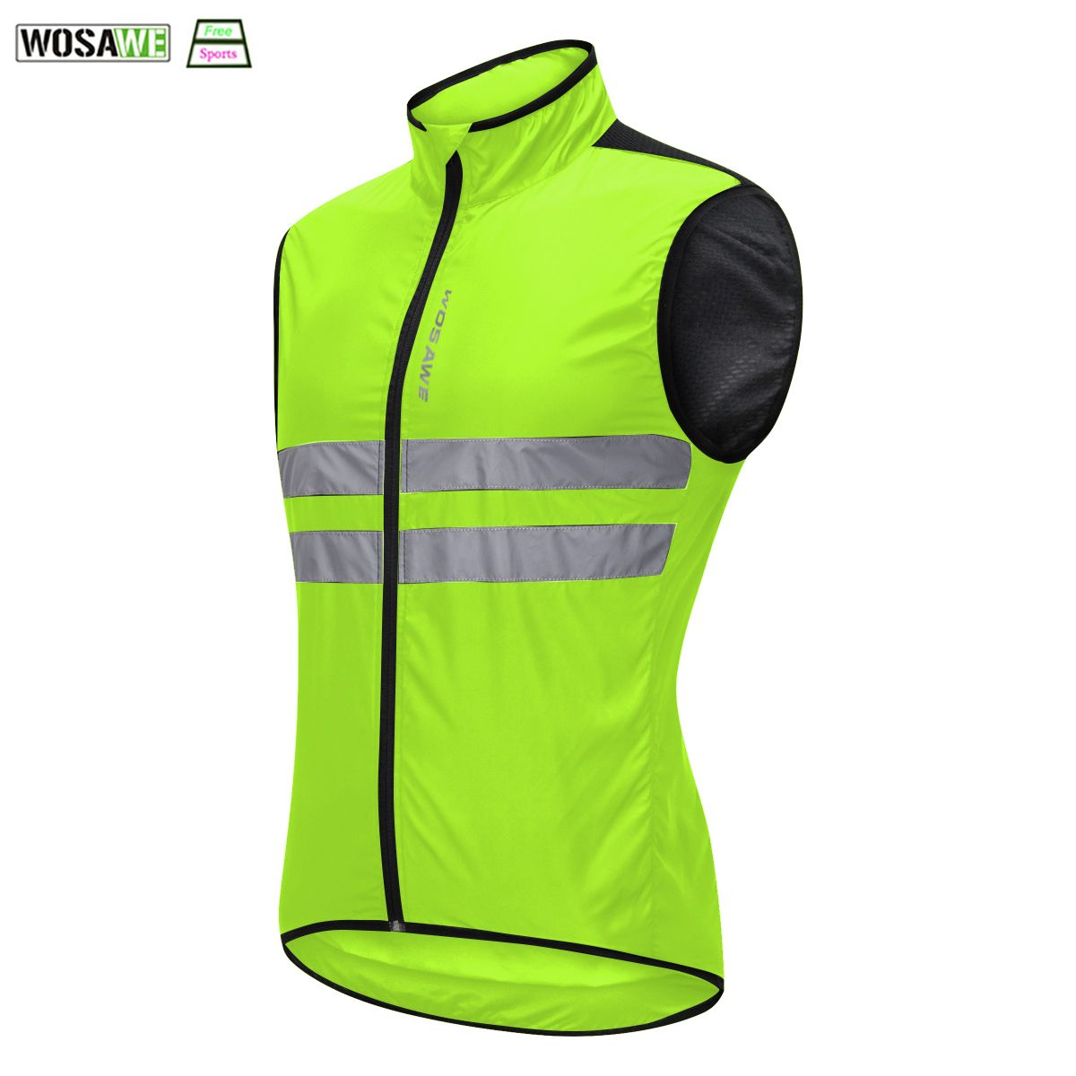 WOSAWE Cycling Reflective Vest High Visibility Off-Road Racing Vest Night Riding Jacket Running motorcycle Bicycle Safety Vest