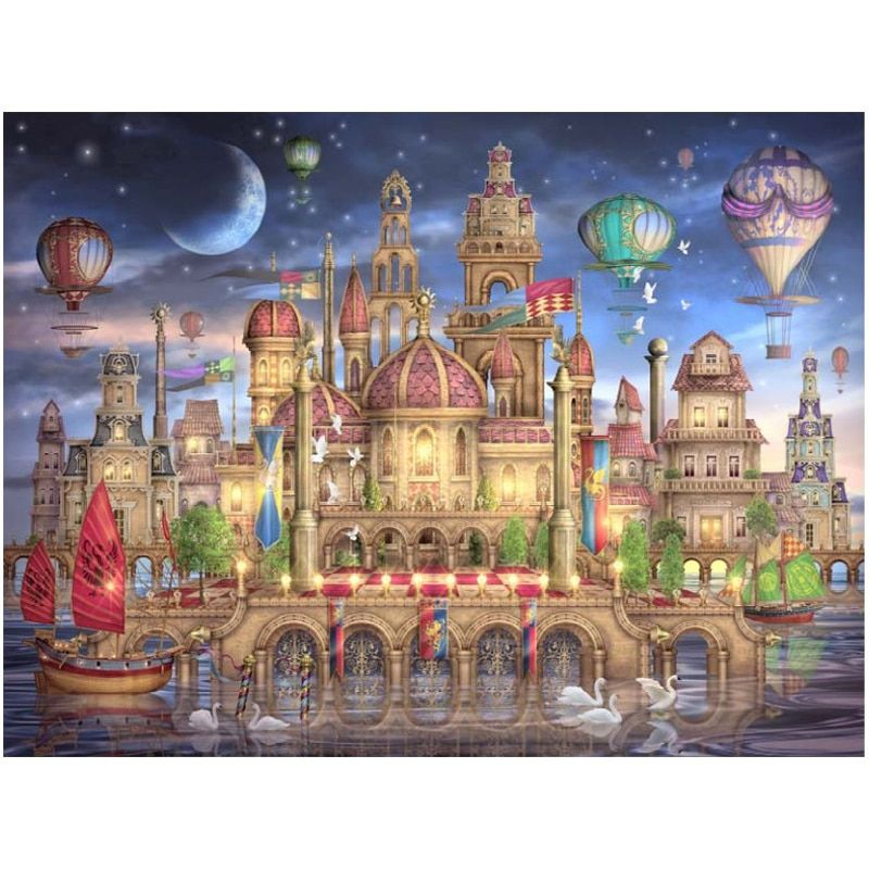 Dream castle counted printed on fabric 14CT 11CT Cross Stitch kits,embroidery needlework Set Home Decor stamped cross stitch DIY