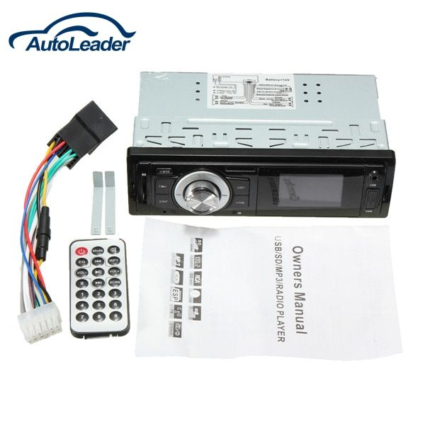 CAR VEHICLE RADIO MP3 MUSIC PLAYER STEREO IN-DASH FM USB For SD AUX INPUT RECEIVER