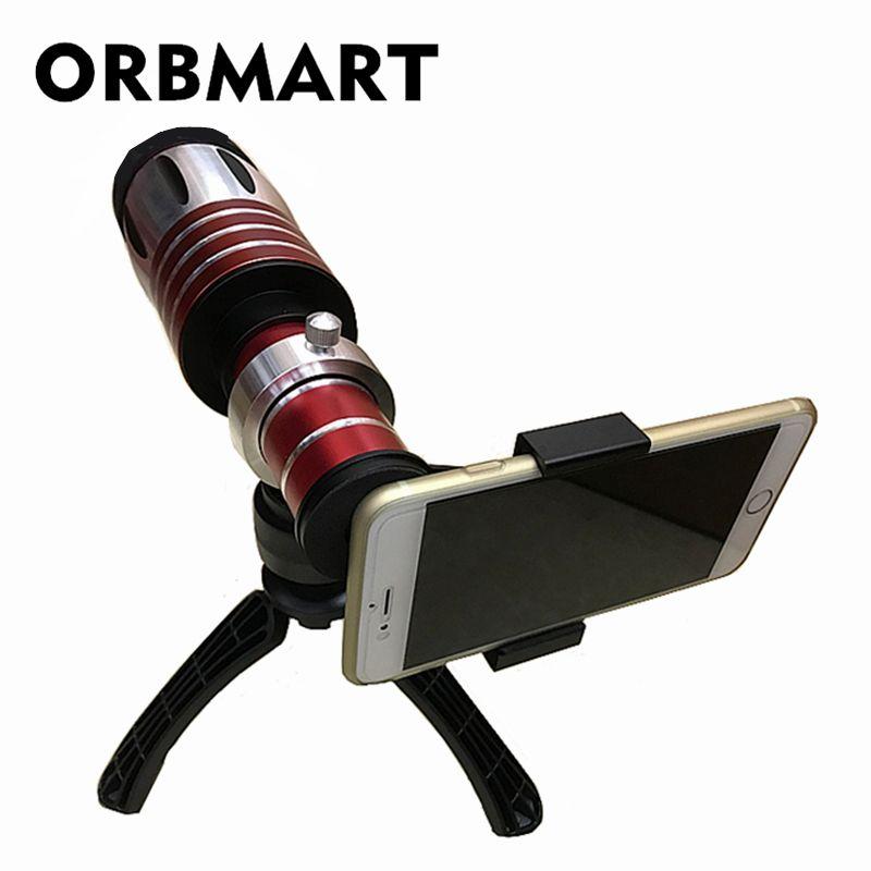 ORBMART 50X Universal Clip Teleskop Tele Lentes Zoom Objektiv Für iPhone X iPhone 8 8 Plus 7 6 s 6 Samsung Handy linsen