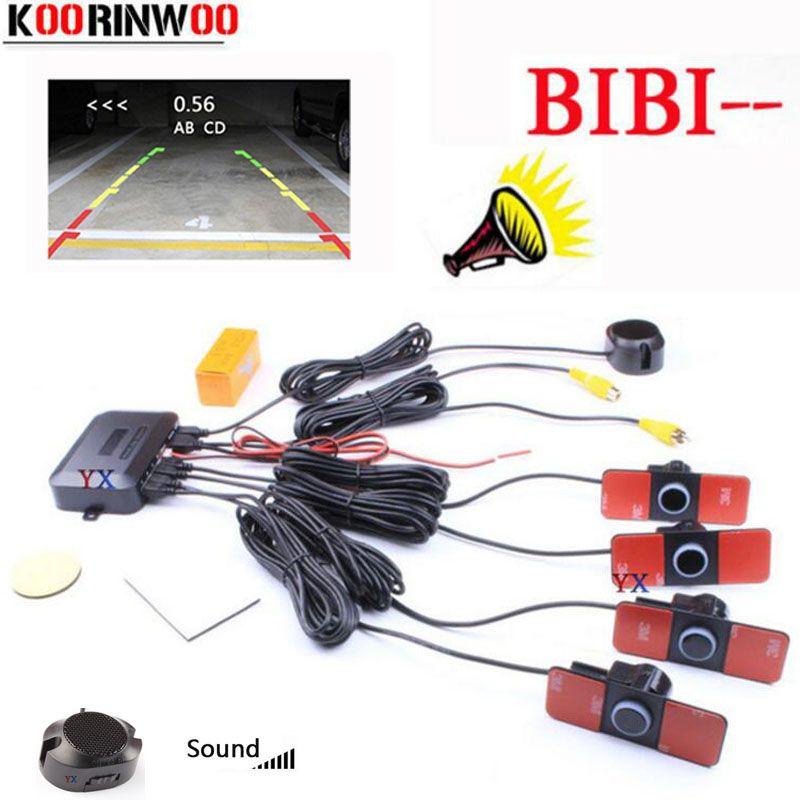 Koorinwoo D'origine 16.5mm Voiture parking Capteur Dual Core Vidéo Image du système Parktronic jalousie rétroviseur radar Pour Voiture