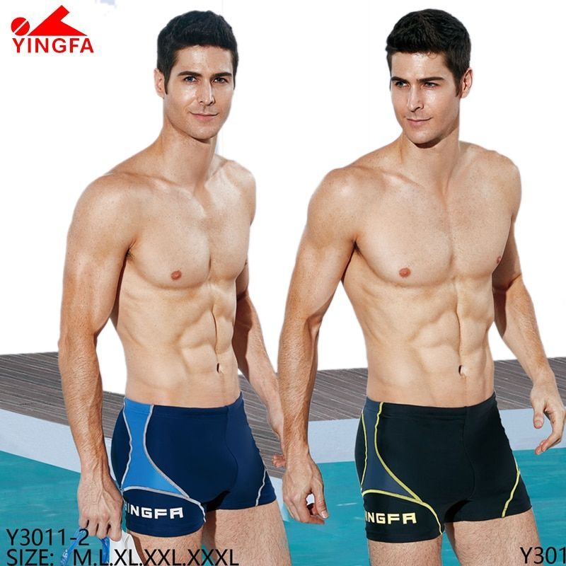 YINGFA FINA mens swimwear swimming trunks Training costumes  professional Swimsuit Racing Competition Bathing Suit Sport  bottom