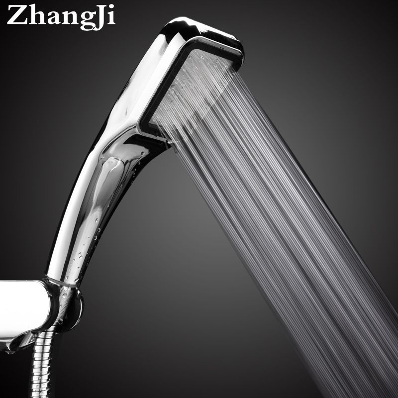 Bathroom 300 Holes Hand Hold Rainfall Shower Head Water Saving High Pressure Water Therapy Shower head Square ABS ZJ010