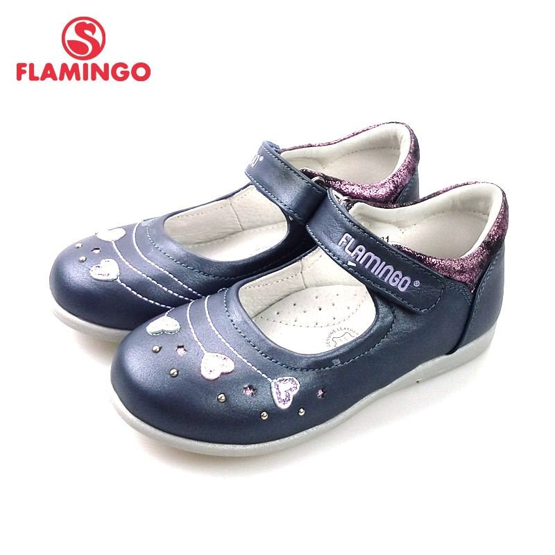 FLAMINGO 2018 New Foot Arch design Spring& Summer Hook& Loop Outdoor Size 24-29 school shoes for girl Free shipping 82T-XY-0831