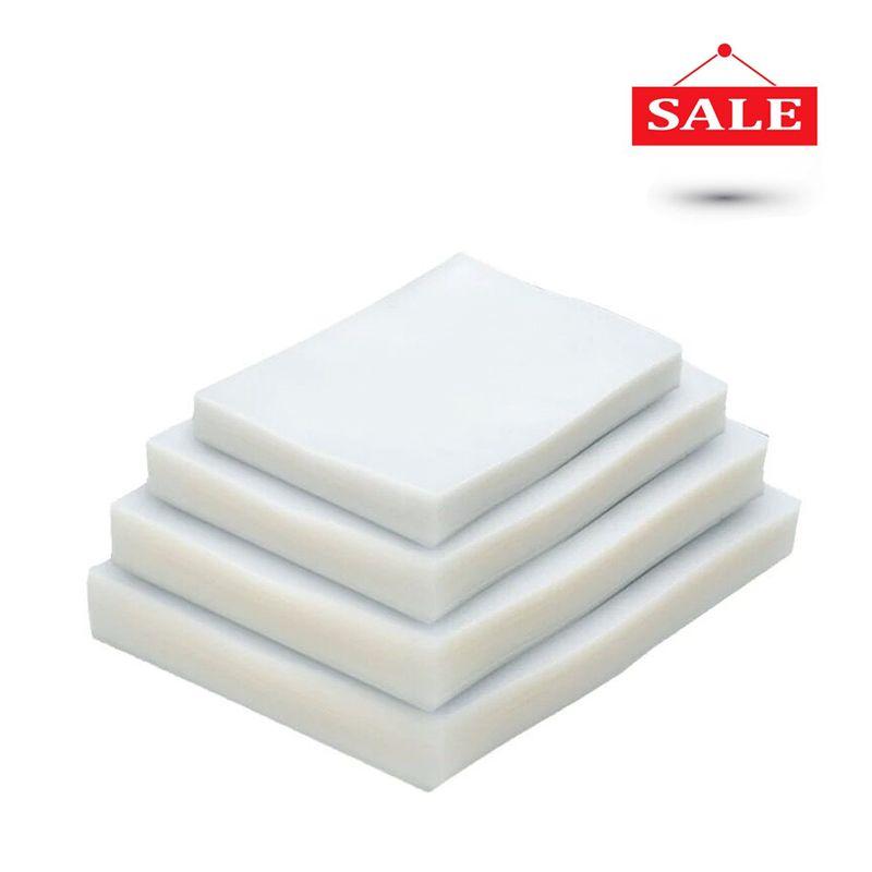 100 PCS/LOT emballage sous vide rangement en plastique sac pour vide machine à sceller pour pack économiseur de nourriture Emballage Rouleaux packer joint sacs