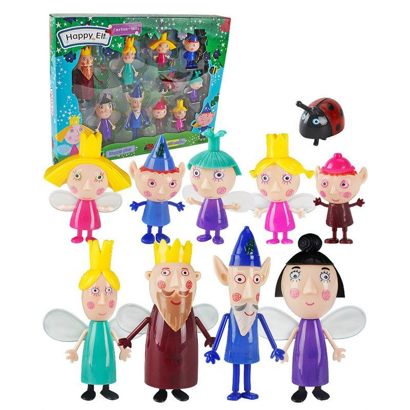 10pcs/set Ben and Holly Little Kingdom Oyuncak Anime Figures toy 5cm-9cm PVC kawaii Cartoon Toys For Kid Birthday christmas Gif