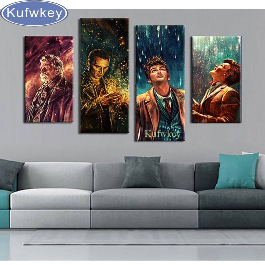 4pcs,Full Square 5D DIY Diamond Painting Doctor Who wall Picture Diamond Embroidery,Cross Stitch,Mosaic,sticker,home decoration