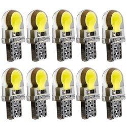 10pcs T10 W5W Silicone Case COB LED Car Parking Light 501 WY5W Silica Gel LED Wedge Interior Dome Lamp Auto Turn Side Bulbs 12V