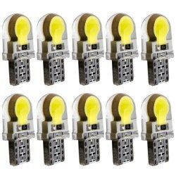 10pcs T10 W5W Silicone Case COB LED Car Parking Light 501 WY5W Silica Gel Shell LED Wedge Interior Dome Lamp Auto Turn Side Bulb