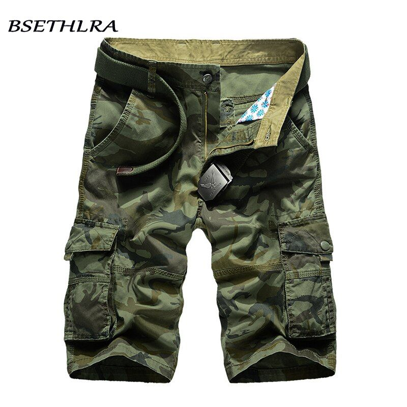 BSETHLRA 2018 New Cargo Shorts Men Summer Top Design Camouflage Military Casual Shorts <font><b>Homme</b></font> Cotton Fashion Brand Clothing
