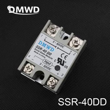 TOP MARQUE DMWD SSR-40DD 40A solid state relais en fait 3-32 V DC À 5-60 DC SSR 40DD relais à l'état solide à Haute qualité