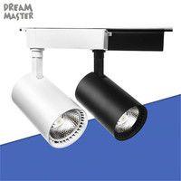 Industrial/7/9/12 W COB llevó la luz de la pista LED lámpara de ferrocarril led focos iluminacao accesorio de iluminación para tienda de la iluminación del punto