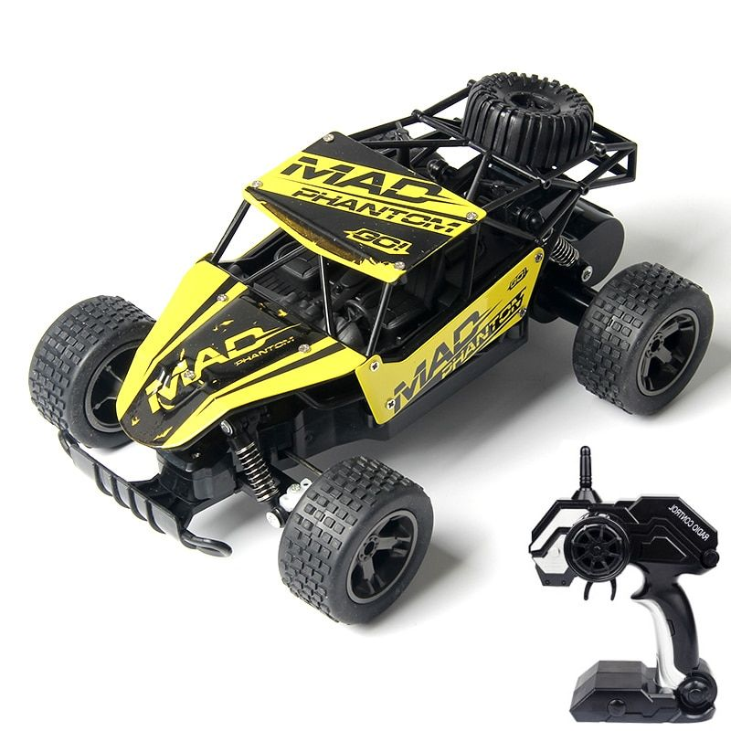 WLtoys RC Car 1:18 Yellow And Blue High Quality Metal And Plastic High Speed 4 Channel Remote Control Car Buggy Toy For Boys