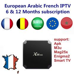 Android TV Box avec 1000 + Canaux Européenne Europe Arabe Français IPTV Code Belgique En Direct TV Smart TV box pour france Belge Arabe