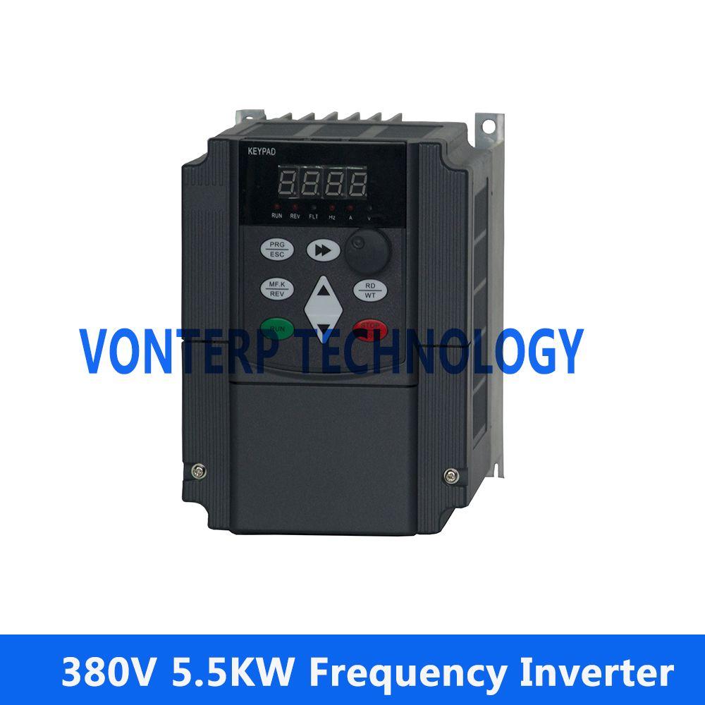 VF control ac drive /frequency inverter three phase 380v 5.5KW 3 Phase 50hz/60hz