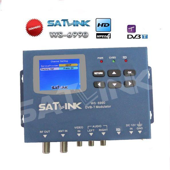 hdmi modulator Satlink WS-6990 HD AV input single-channel DVB-T Modulator Compact and wall mountable WS6990 WS 6990