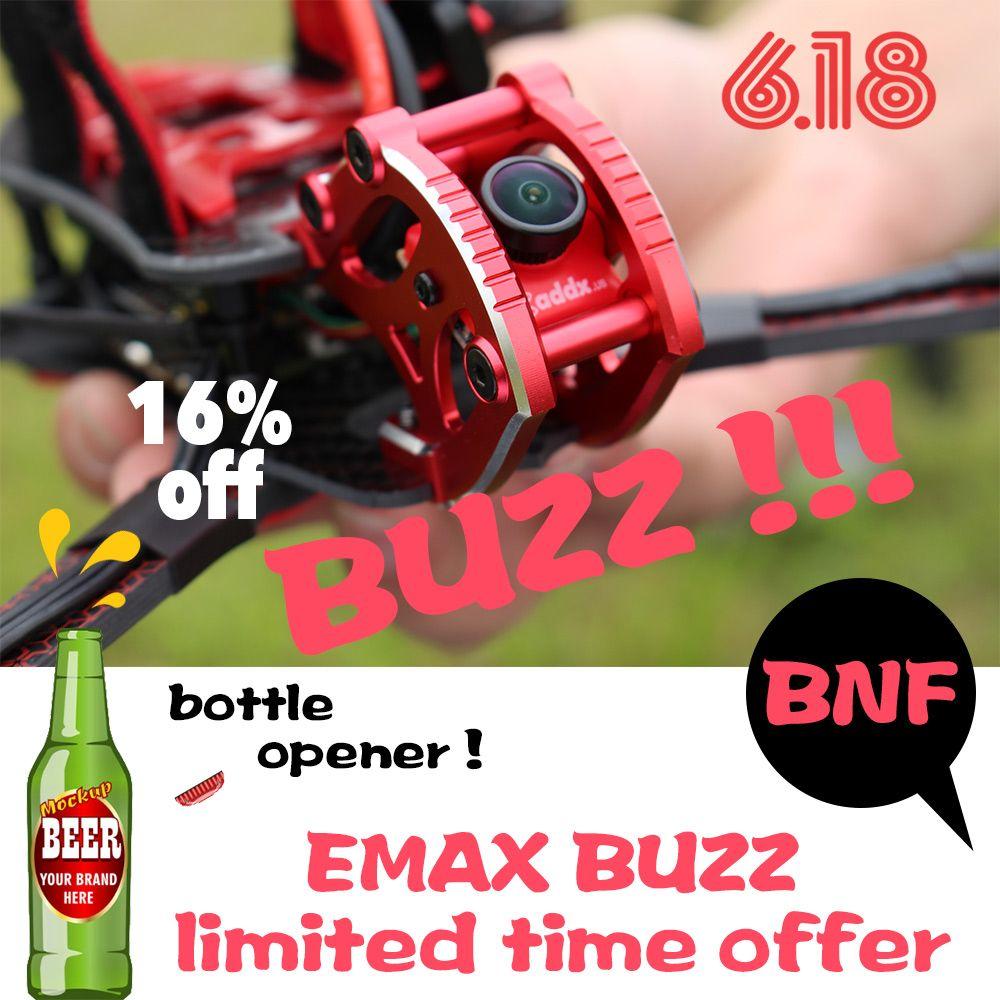 Offizielle EMAX BUZZ Freestyle Racing Drone BNF 1700kv/2400kv Motor Mit FrSky XM + Empfänger Quadcopte FPV Kamera Für rc Flugzeug