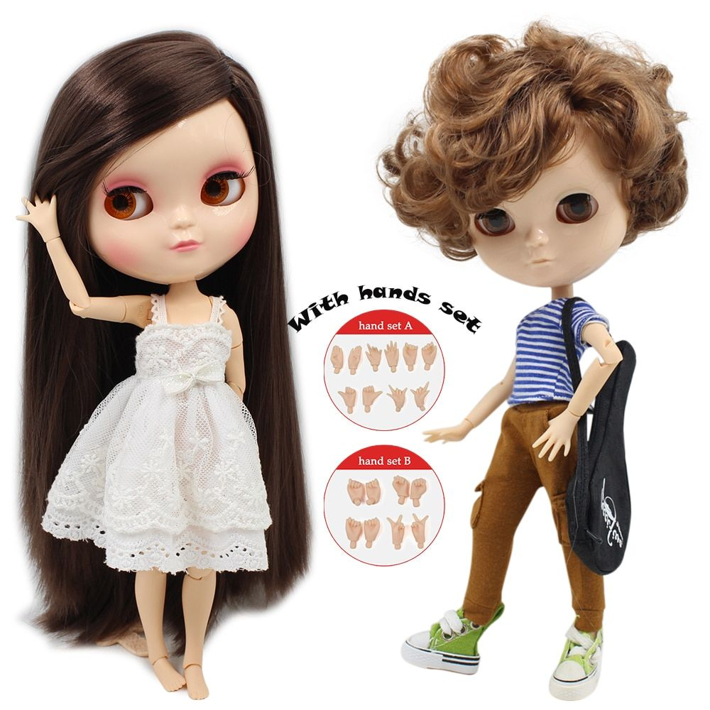 ICY NUDE doll Azone Joint body SMALL CHEST Include hand set A&B like blyth BJD 11.5 inch 30cm dolls for girls free shipping