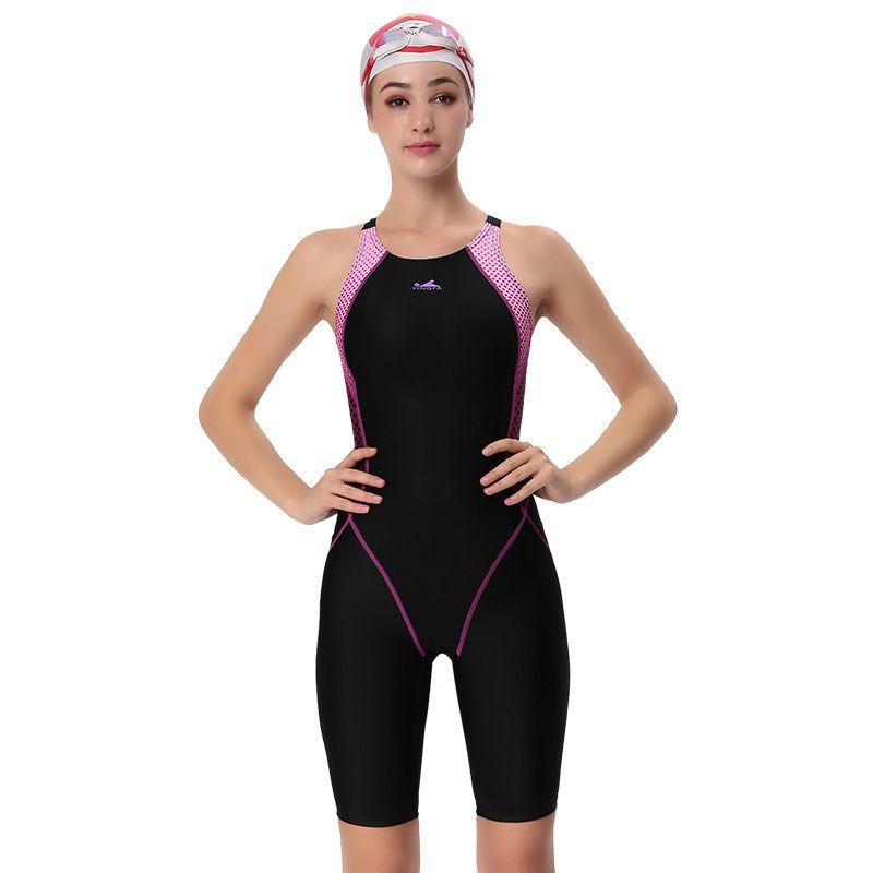 YINGFA badebekleidung frauen ein stück konkurrenzfähiger badeanzug mädchen sport haifischhaut racing wettbewerb schwimmen anzüge weiblichen badeanzug