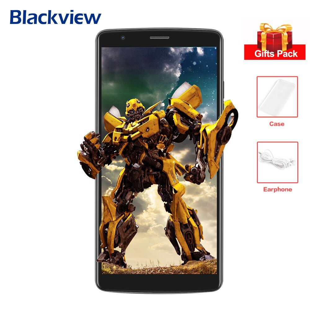 BLACKVIEW A20 3G Smartphone 5.5'' IPS Screen MTK6580 Quad Core 1.3GHz 1GB+8GB Android 8.0 Dual Back Cams Mobile Phone 3000mAh