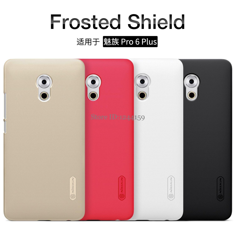 Meizu Pro 6 Plus cas Meizu Pro 6 Plus La couverture NILLKIN Super Givré Bouclier mat couverture arrière cas avec cadeau
