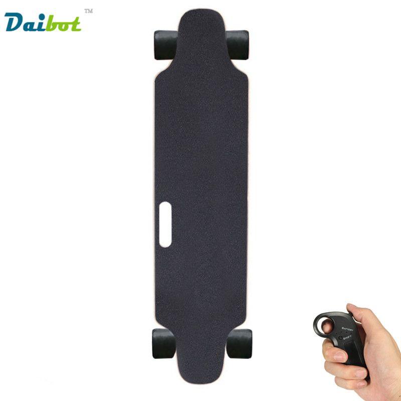USA Belgien Lager Neue 4 Rad Erwachsene Elektrisches Skateboard 300 Watt mit Griff Bluetooth Steuer Hoverboard Longboard Tretrollers