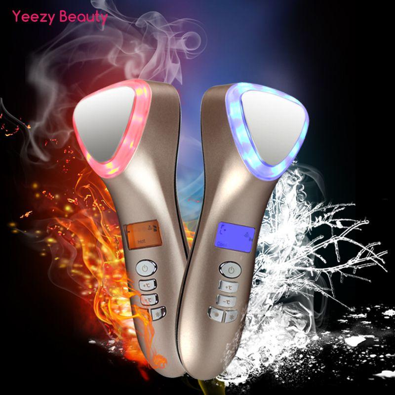 LED de cryothérapie à ultrasons marteau chaud froid levage Facial masseur de Vibration visage corps Spa importation Machine de Salon de beauté