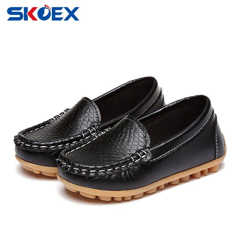 Nuevos Niños Niñas Zapatos de Suela Suave Slip On Zapatos Mocasines de Cuero Zapatos Del Barco Del Bebé Niños Zapatillas de deporte (Toddler/Little Kid/Niño Grande)