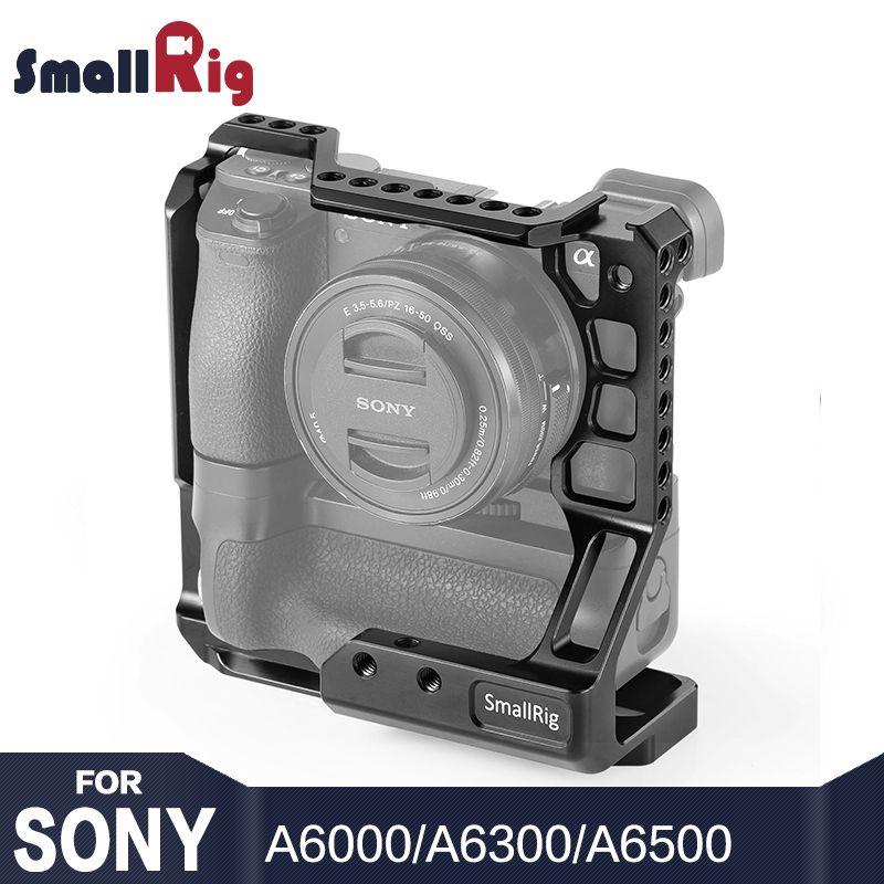 SmallRig A6000 Käfig Kit DSLR Kamera Käfig für Sony A6000/A6300/A6500 mit Meike MK-A6300/A6500 Batterie grip 2268