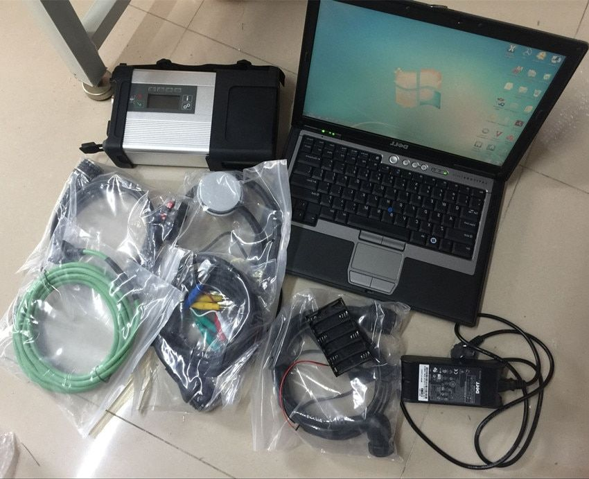 mb star c5 diagnose scanner with laptop d630 ram 4g hdd 320gb software 2018.12 windows 7 ready to use