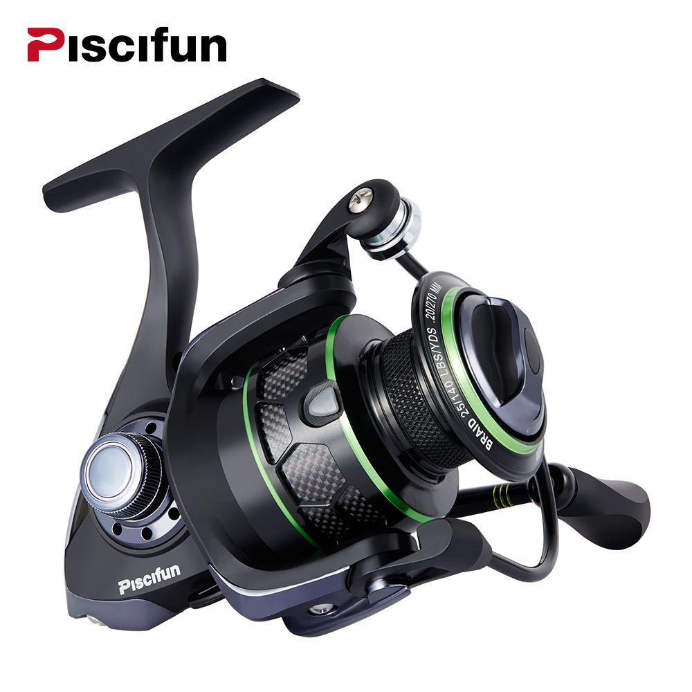 Piscifun Venom Fishing Reel 12Kg Max Drag Spinning Reel 10+1 Bearings Water Resistant 5.1:1 Gear Ratio Spinning Fishing Reel