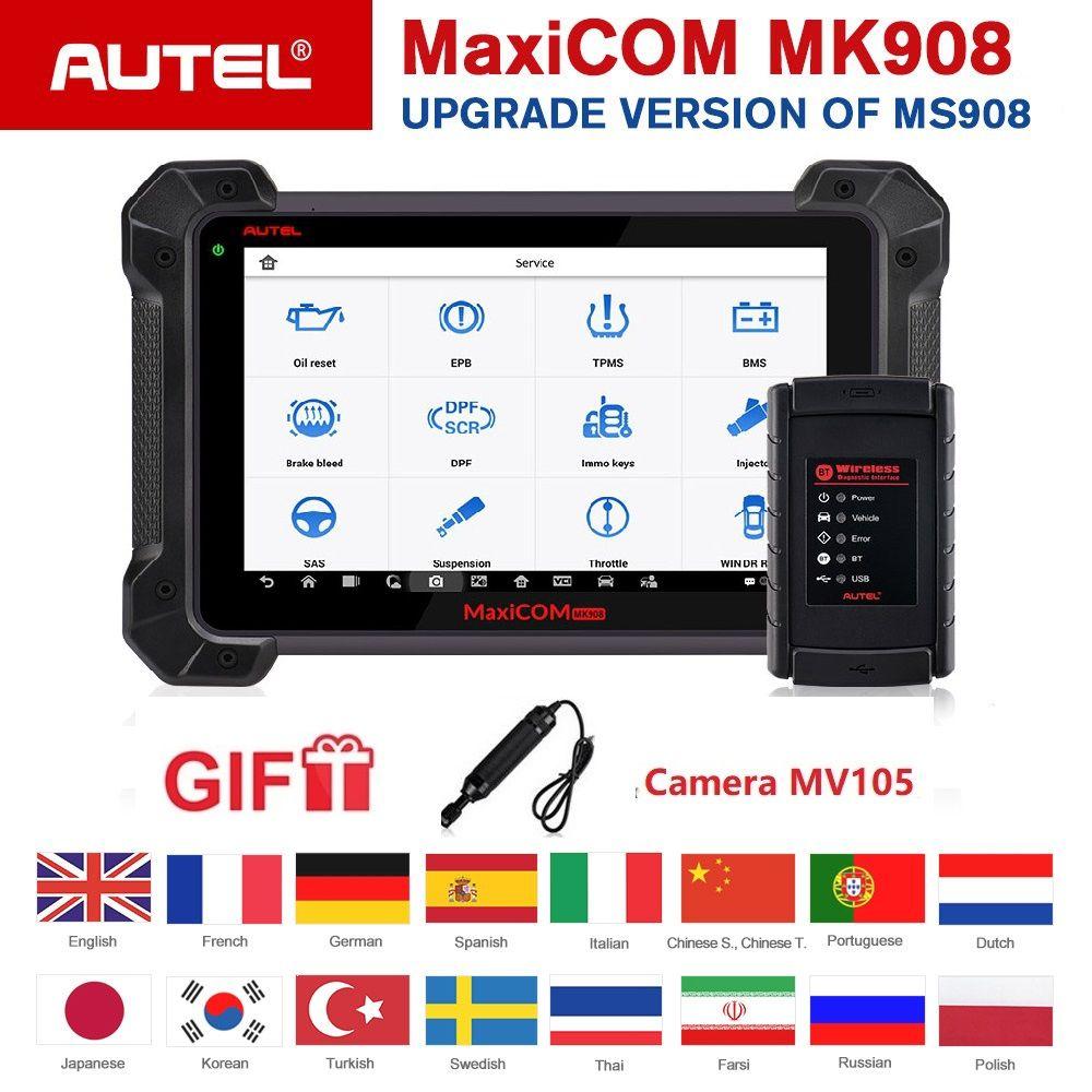 Autel MaxiCOM MK908 Auto Diagnose Scanner Erweiterte Umfassende Full System ECU Codierung Werkzeug