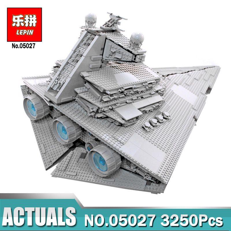 New LEPIN 05027 3250Pcs Imperial Super Star Destroyer Model Building Kit Blocks Bricks Compatible LegoINGlys 10030