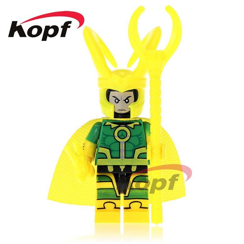 20Pcs Super Heroes Loki Aquaman Batman Arthur Curry Harley Quinn Bricks Collection Building Blocks Best Children Gift Toys PG283