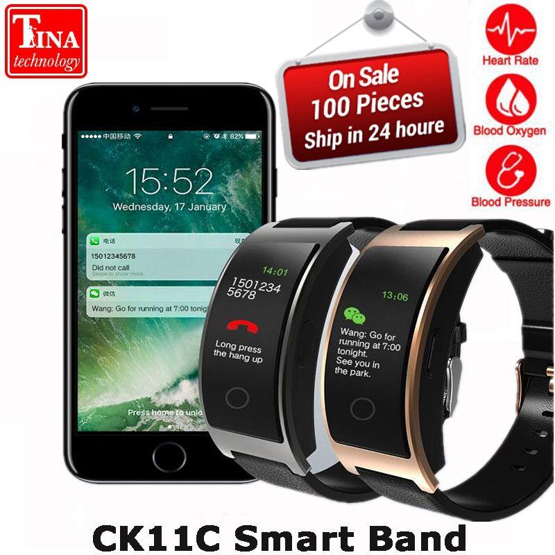 New CK11C Smart Band Colorful Screen Heart Rate <font><b>Monitor</b></font> Bracelet Blood Pressure Fitness Tracker Smart band Sport Watch Wristband