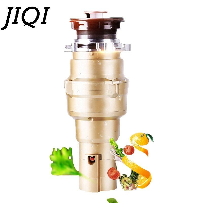 JIQI Kitchen Food Waste Disposer Garbage Processor Bone Crusher High-sensitivity Automatic Sewer Stainless steel Grinder Machine