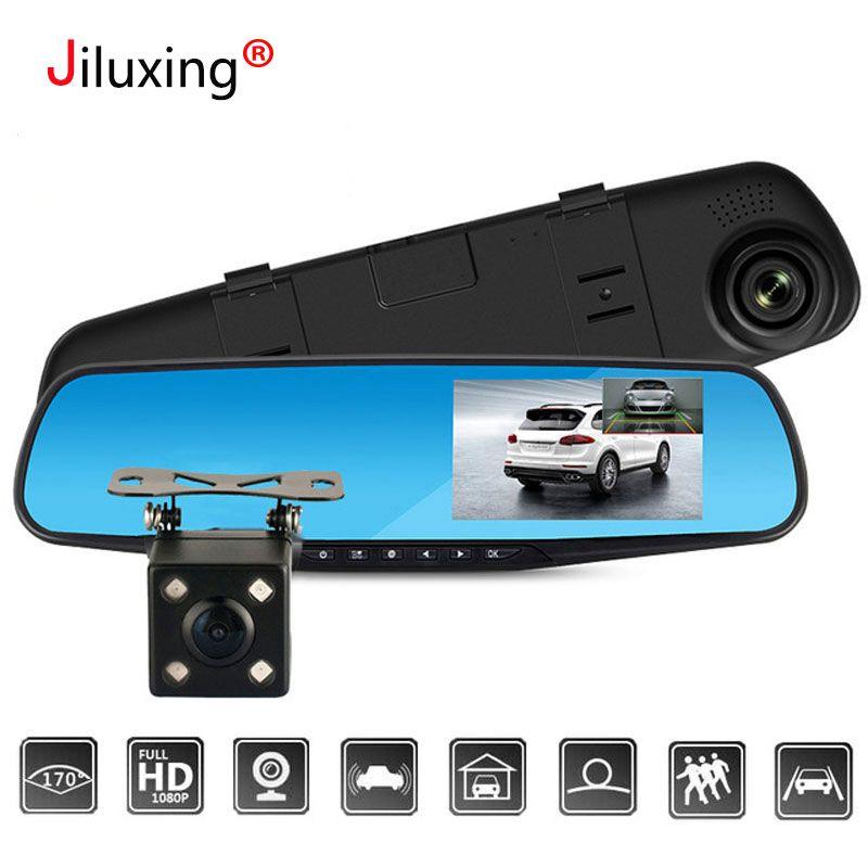 FHD 1080P Car DVR Double lens Car camera <font><b>rearview</b></font> mirror Video Recorder Dash cam Auto Blackbox Night Vision G-Sensor