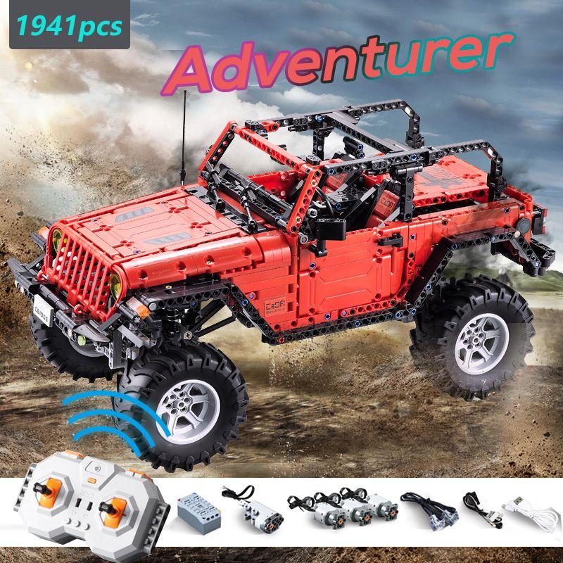 CADA RC Fernbedienung Jeep Wrangler Auto Kompatibel Neue Technik Serie Bausteine Set Spielzeug Adventurer Fahrzeug Ziegel
