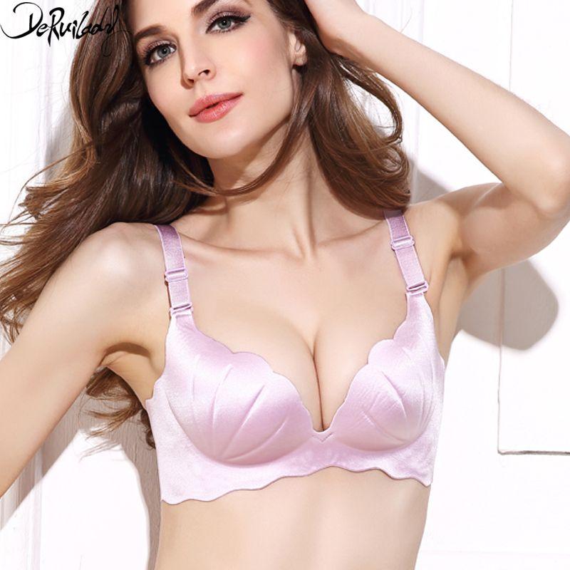 DeRuiLaDy mode coque soutien-gorge femmes solide Push Up soutien-gorge réglable 3/4 fil gratuit Bralette confort Shell sous-vêtements femmes Lingerie